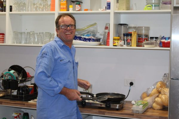 The Boss cooking for the Safety Meeting